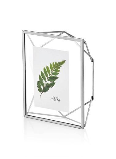 The Mia Brass Çerçeve Silver 22 x 17 Cm Gümüş